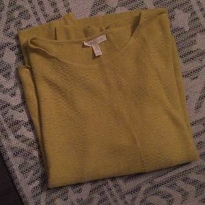 Eileen Fisher Chartreuse Sweater Top